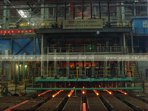 工程图片-内蒙古亚新隆顺特钢有限公司新建半径10米7流方坯连铸机-2010年10月投产