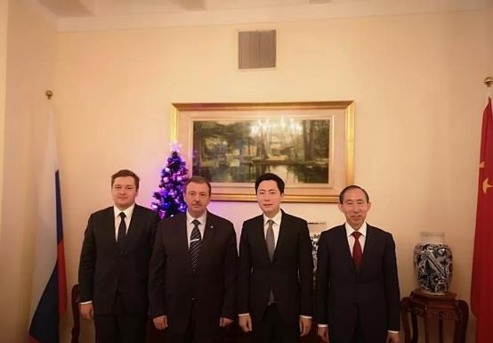体球网比分会见俄罗斯驻华大使馆公使德米特里·卢基扬采夫
