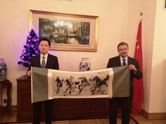王波會見俄羅斯駐華大使館公使德米特里·盧基揚采夫
