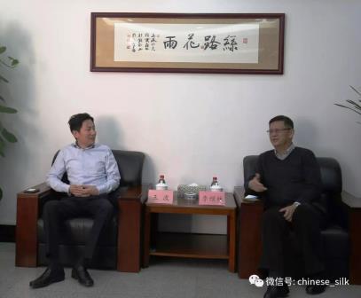 王波会见浙江凯喜雅集团名誉董事长李继林一行