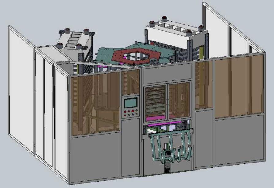 旋轉式全自動層壓機
