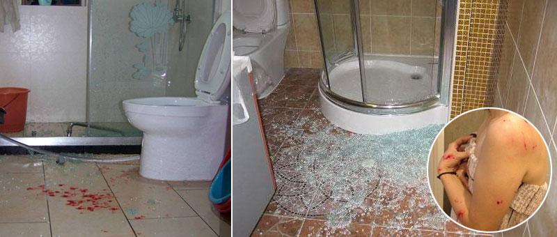 淋浴房玻璃自爆、爆炸傷人