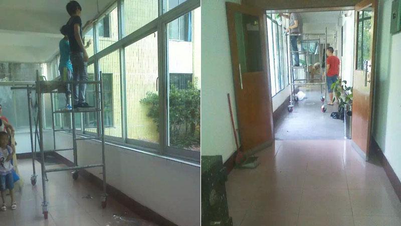通川區政府辦公大樓窗戶玻璃貼膜