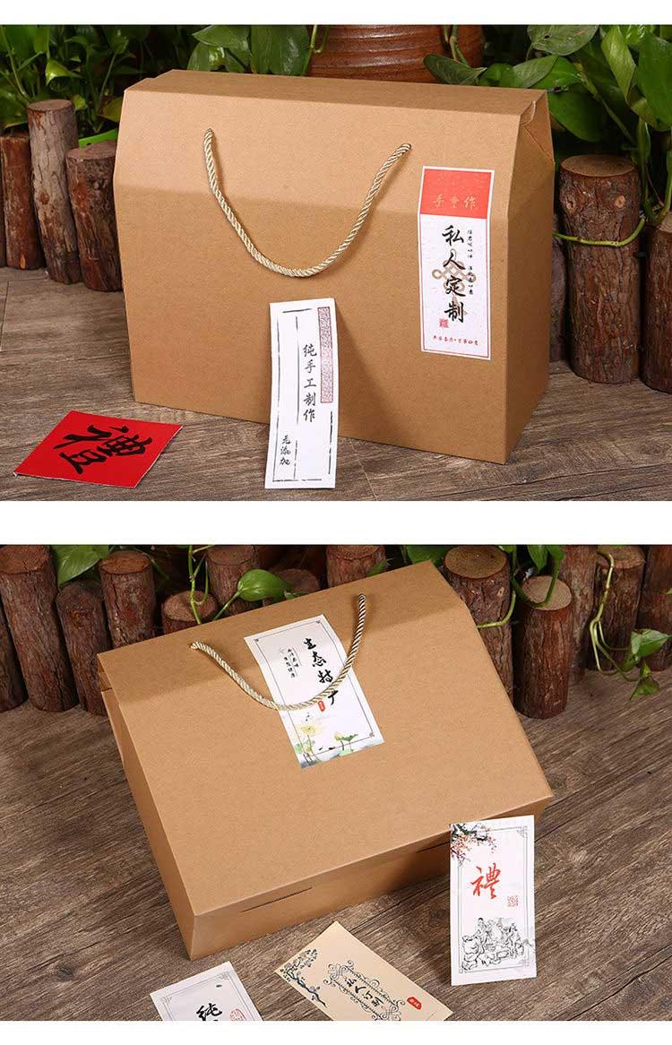 牛皮紙手提食品禮品盒詳情4