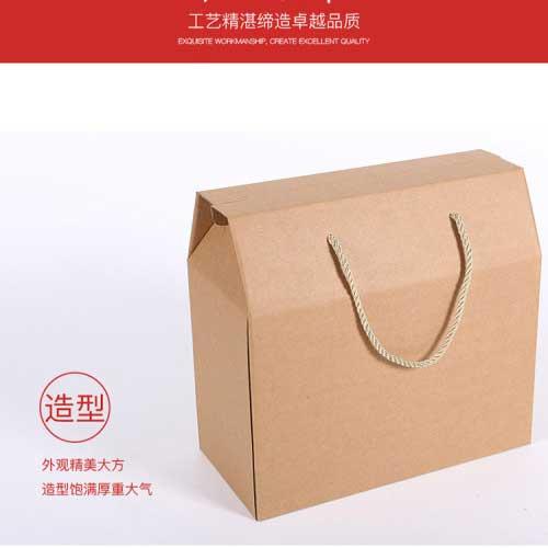 牛皮紙手提食品禮品盒小2