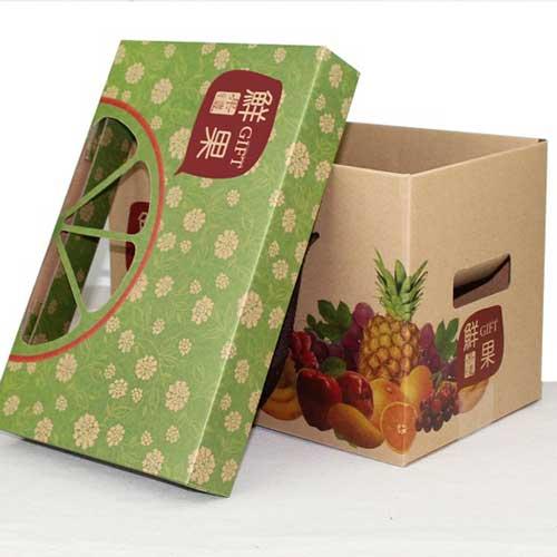 通用牛皮纸水果礼盒小4