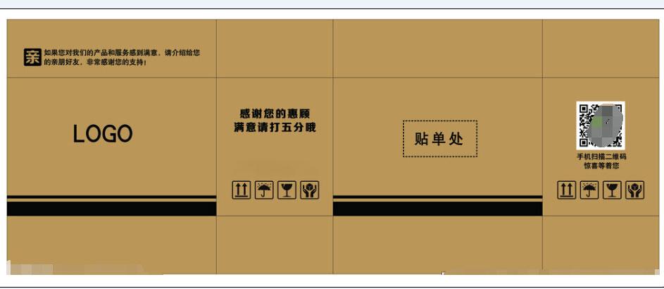 紙箱平展圖