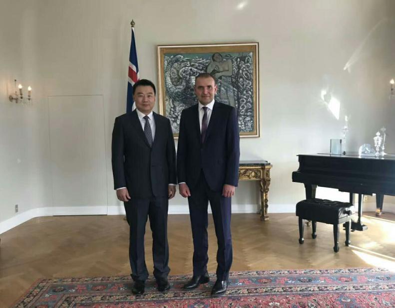 冰岛总统接见曹克坚