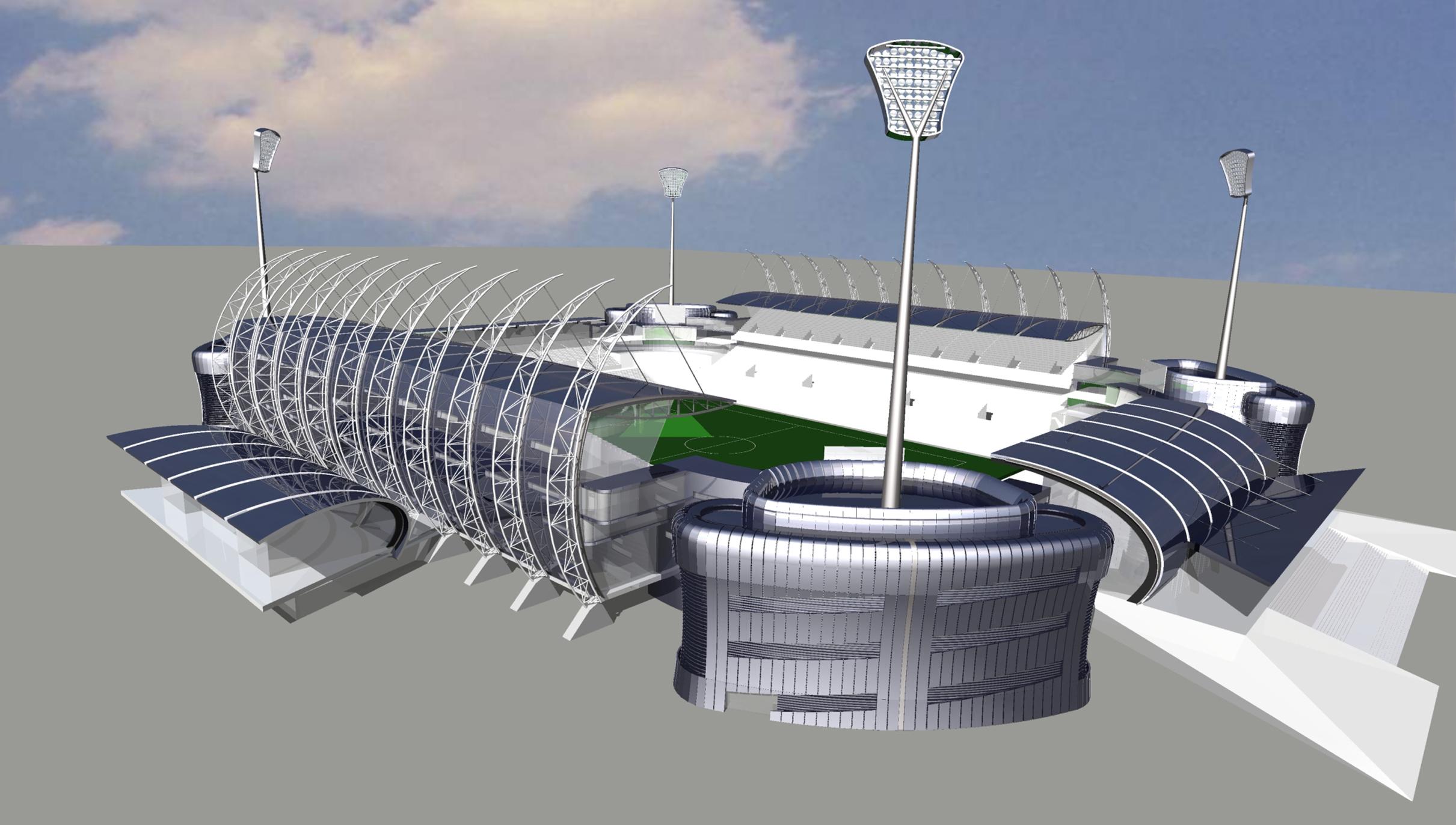 天津泰達足球場—看臺板