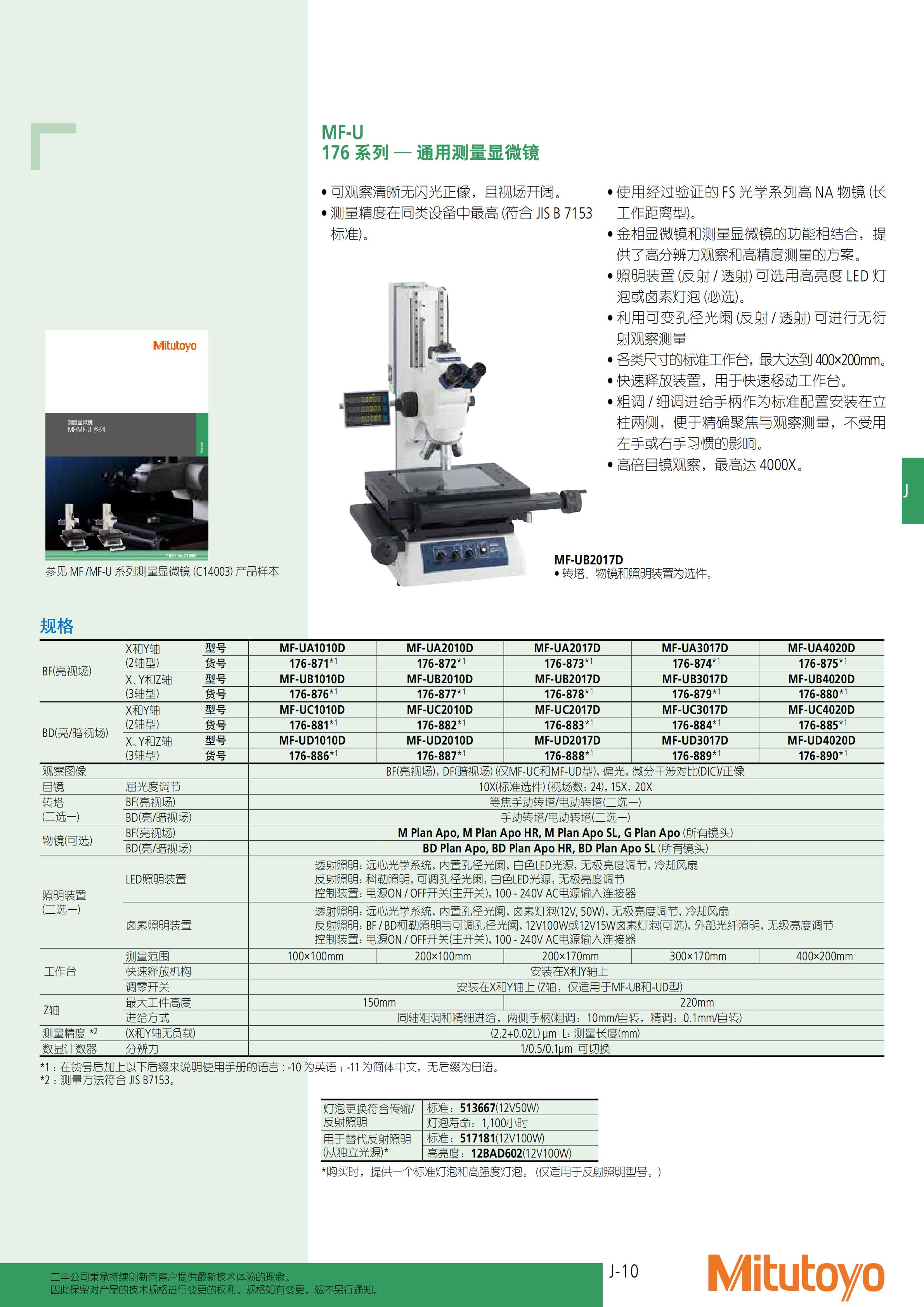 工业显微镜-三丰彩页_504