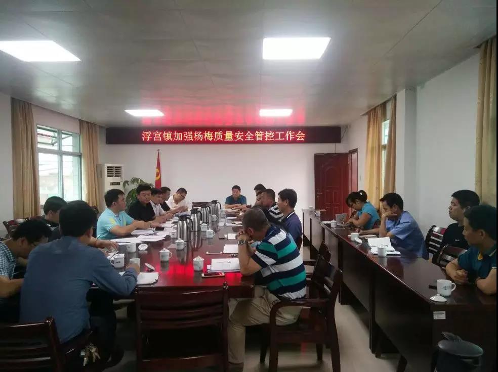 11.浮宫镇加强杨梅质量安全管理工作会议