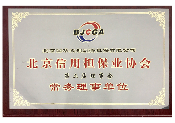 北京信用担保业协会-常务理事单位