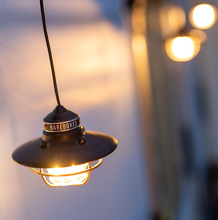 BAREBONES爱迪生灯打造户外露营浪漫场景