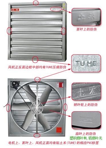 土禾風機防偽位置說明