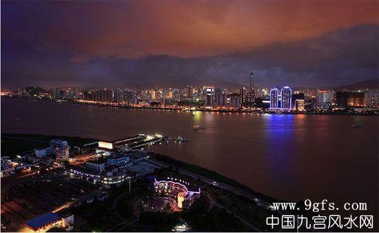 温州风水夜景图片
