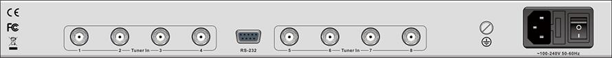 DXP-8000D-后面板