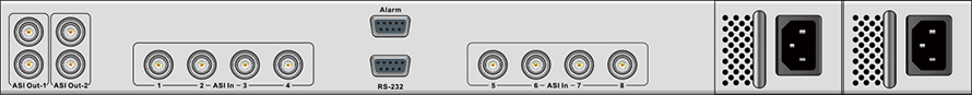 DXP-3800MX-后面板
