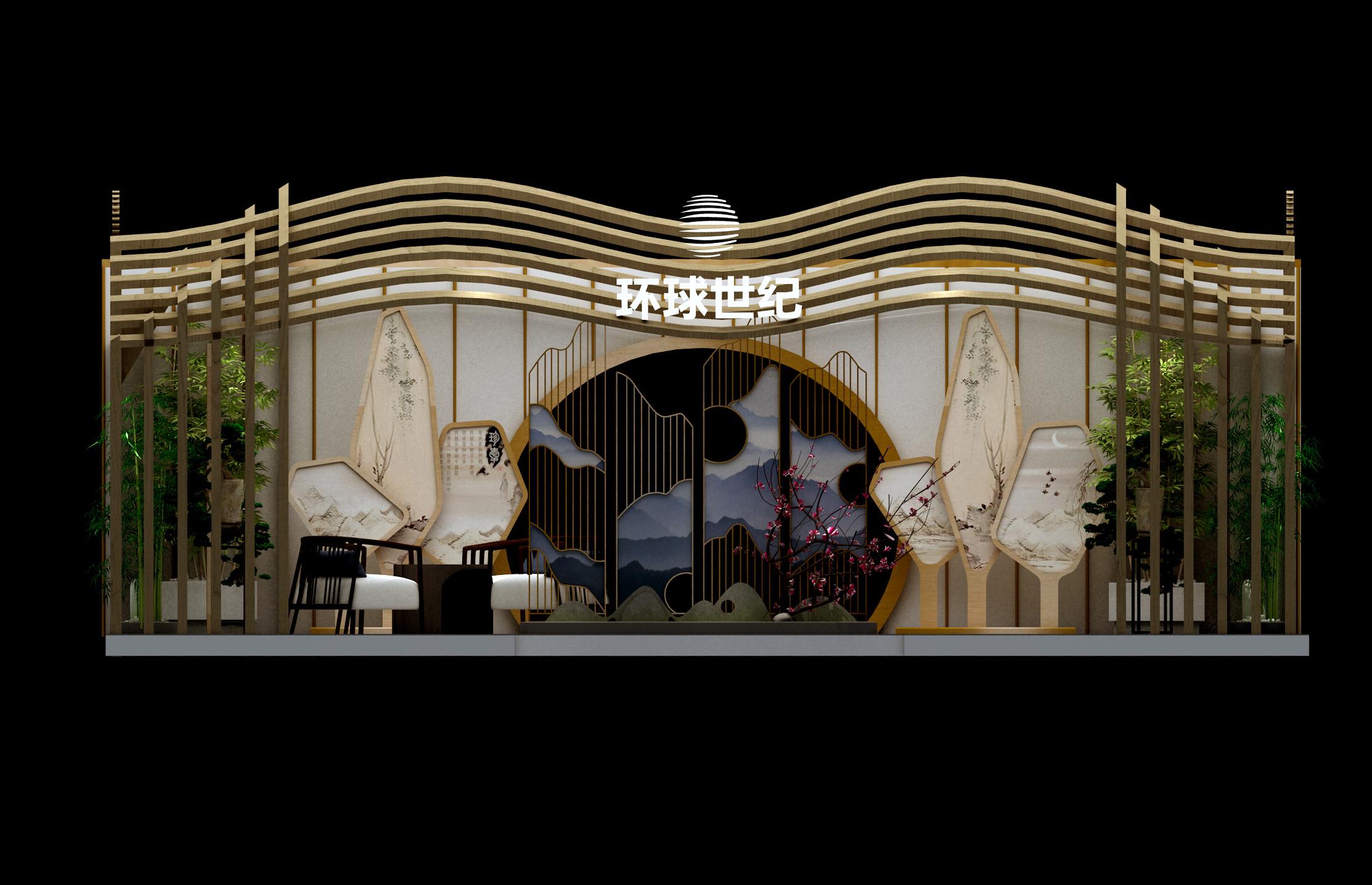 0415世纪城洲际酒店大堂展位效果-效果图-3