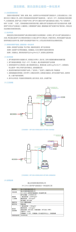 濕法脫硫、脫白及粉塵超低一體化技術