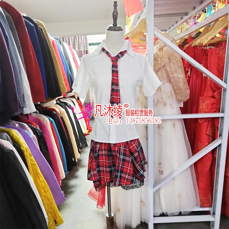 女学生装格子裙