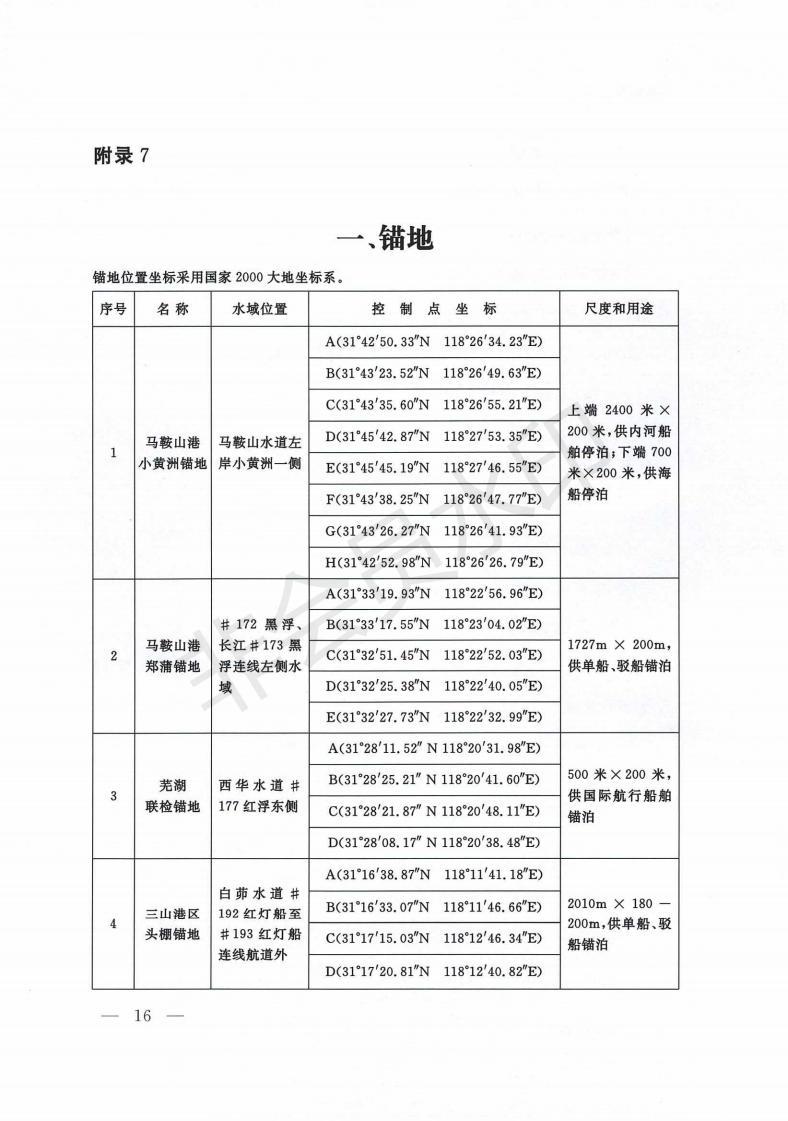 交通運輸部關于發布《長江安徽段船舶定線制規定》《長江三峽庫區船舶定線制規定》的公告-交通運輸部關于發布《長江安徽段船舶定線制規定》《長江三峽庫區船舶定線制規定》的公告_15