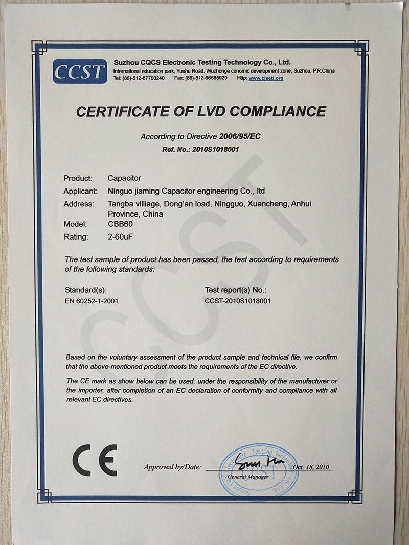 Certificateoflvdcompliance