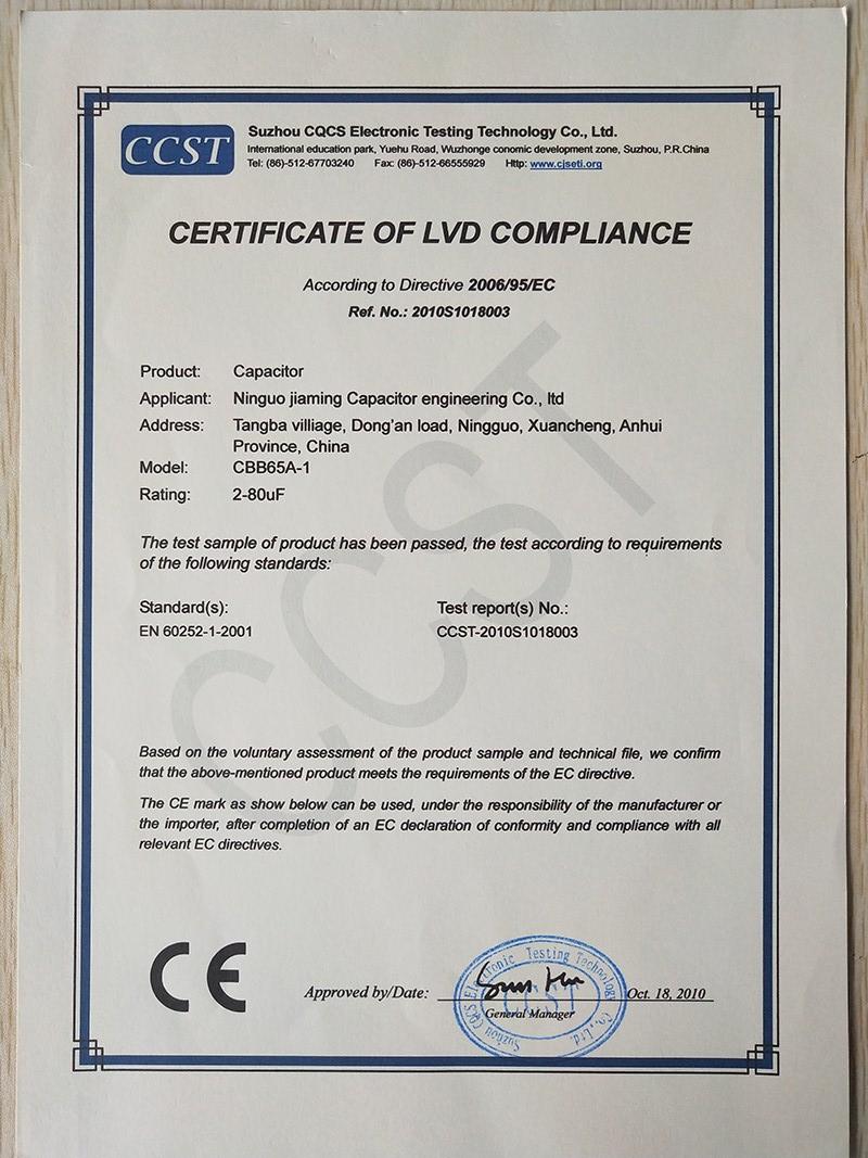 Certificateoflvdcompliance2