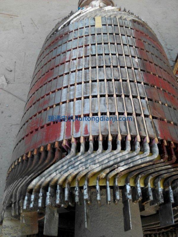 高壓電機轉子更換導條630kw