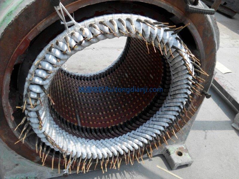 高压电机更换线圈JR570---8