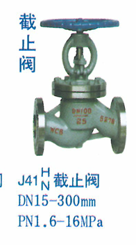 截止阀DN15-300mmpn1.6-16mpa
