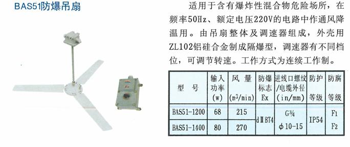 BAS51防爆吊扇