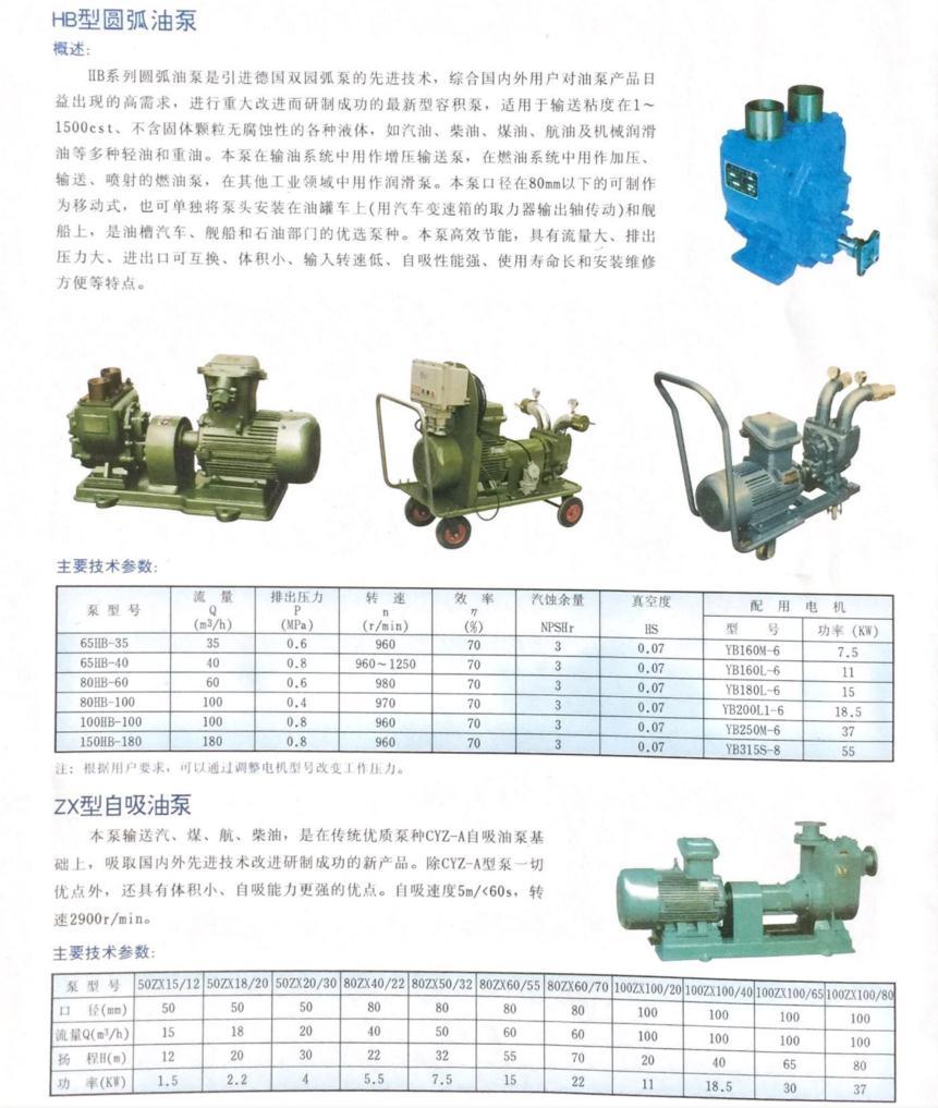 HB型圆弧油泵