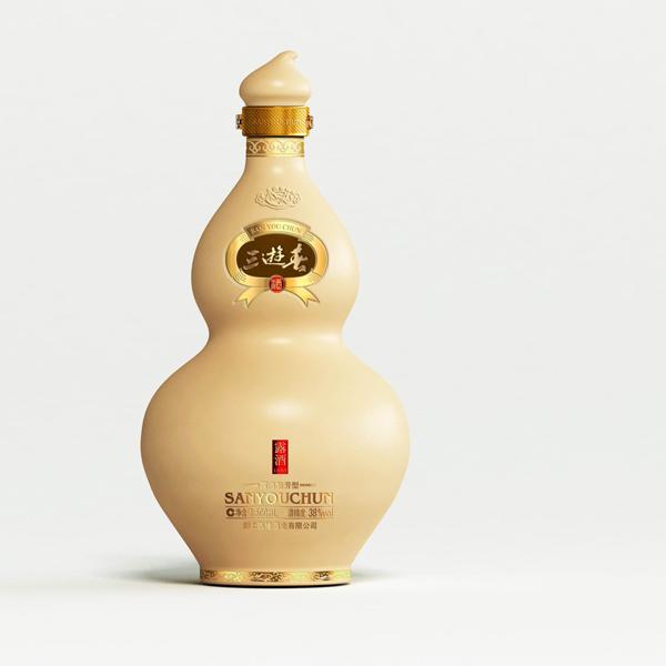 白酒爆款包装策划设计三游春