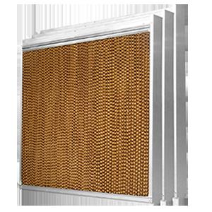 不锈钢框湿帘水帘墙