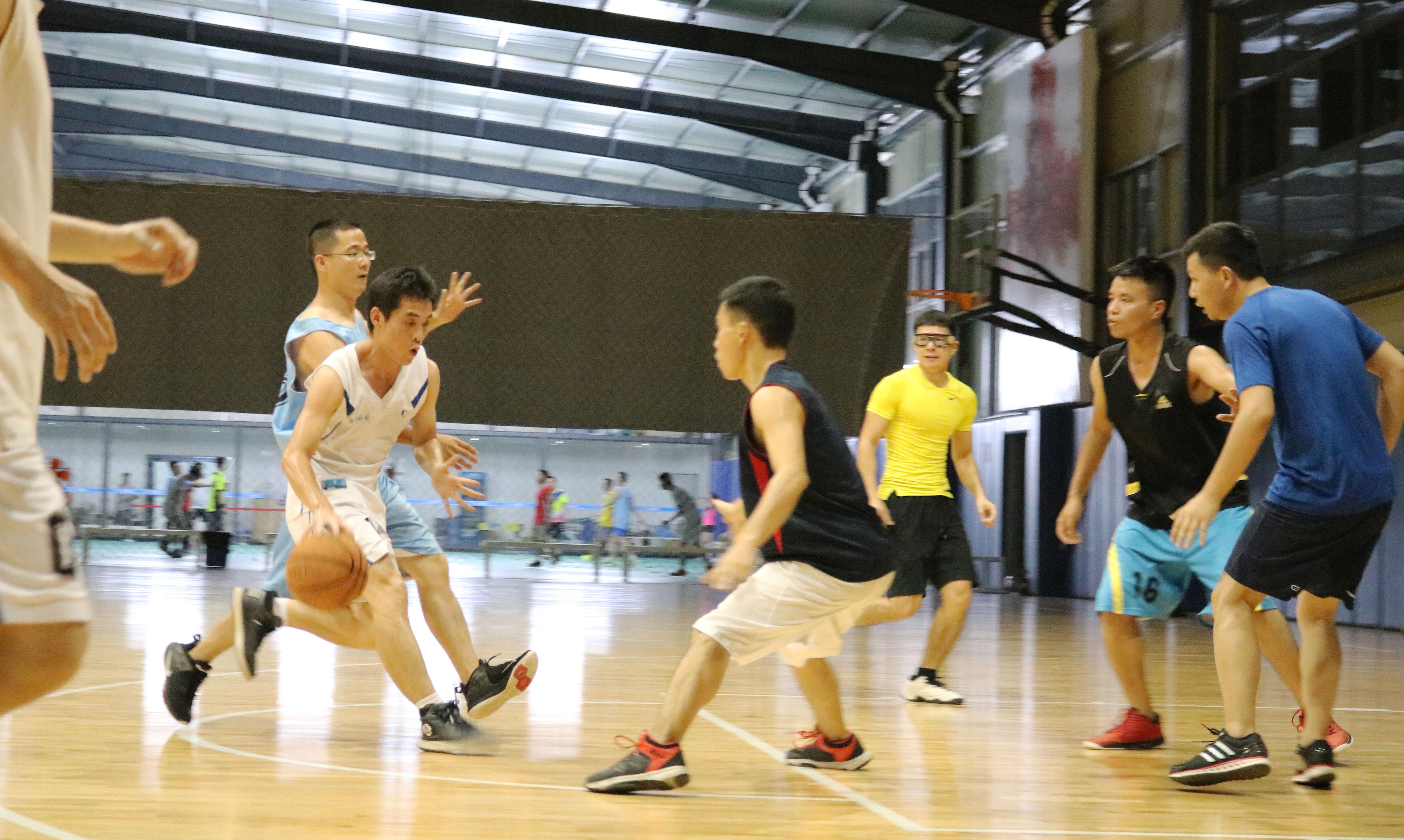 市政所与岩土所的部门篮球赛