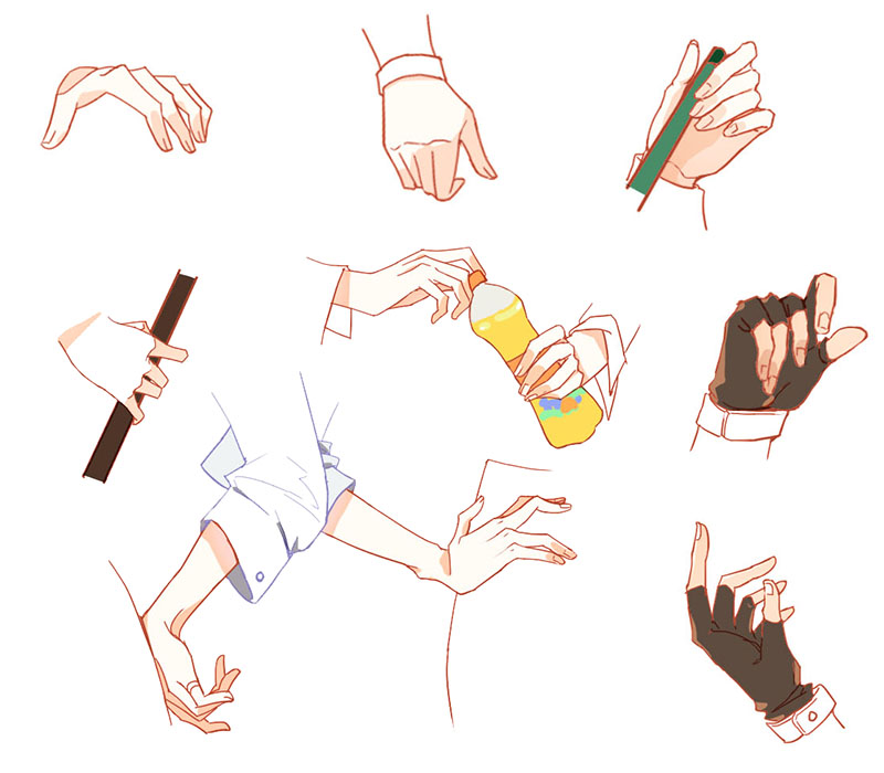 臨摹的手拷貝