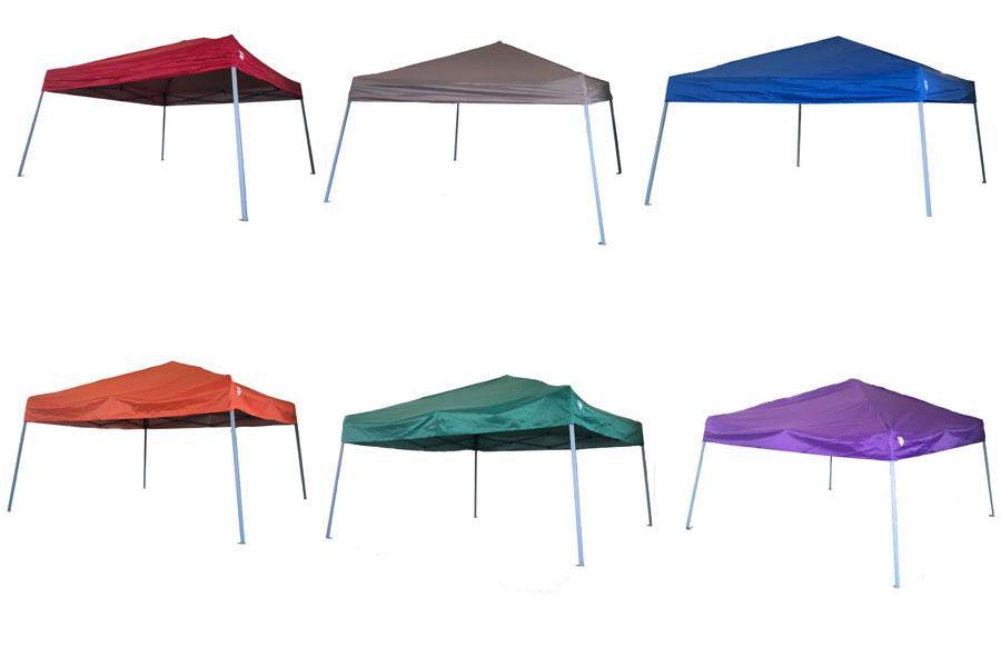 六個顏色的帳篷