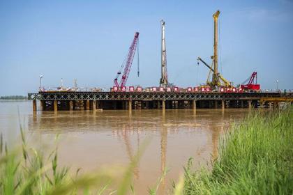 三门峡蒙华铁路跨黄河大桥115米深经典william hill中文