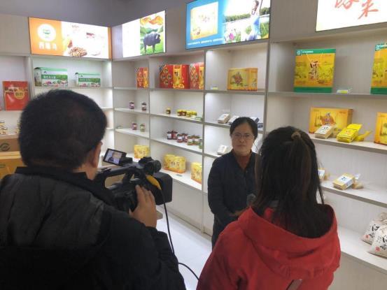 榆社县电子商务产业园接受晋中电视台采访