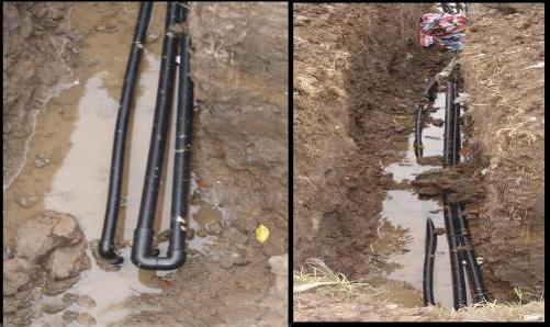 10土壤源热泵水平埋管施工现场