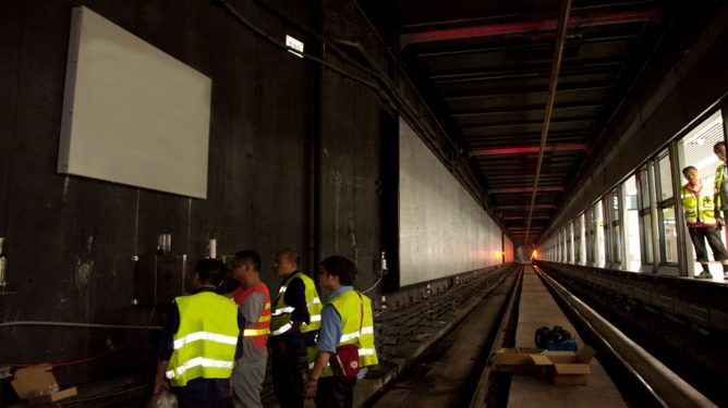 上海地鐵徐家匯站隧道監測項目1