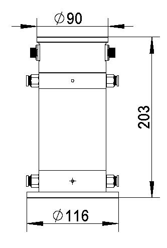 新版靜力水準儀尺寸圖1
