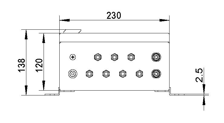 正弦采集盒尺寸圖1