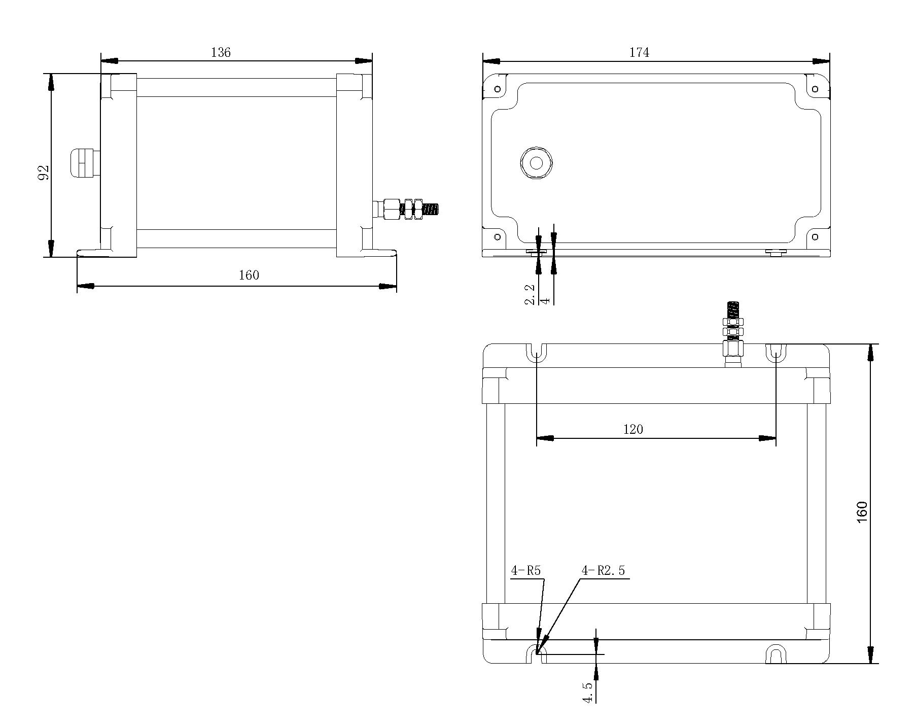 拉繩式裂縫外觀尺寸圖
