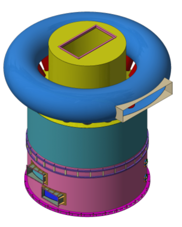 豎冷器三維設計圖