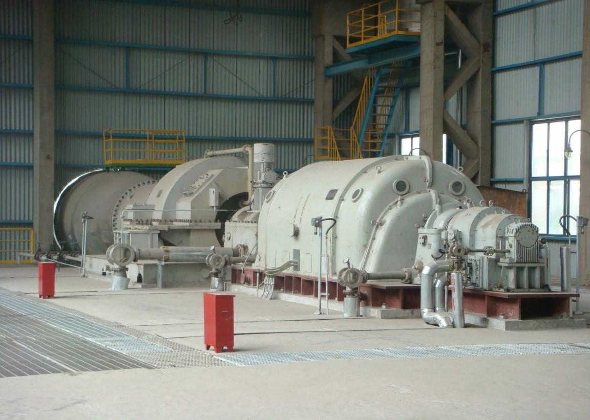 迁钢厂区4000m3高炉余压发电TRT装置