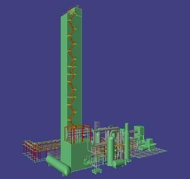 首钢氧气厂35000m3制氧工程三维策划模型