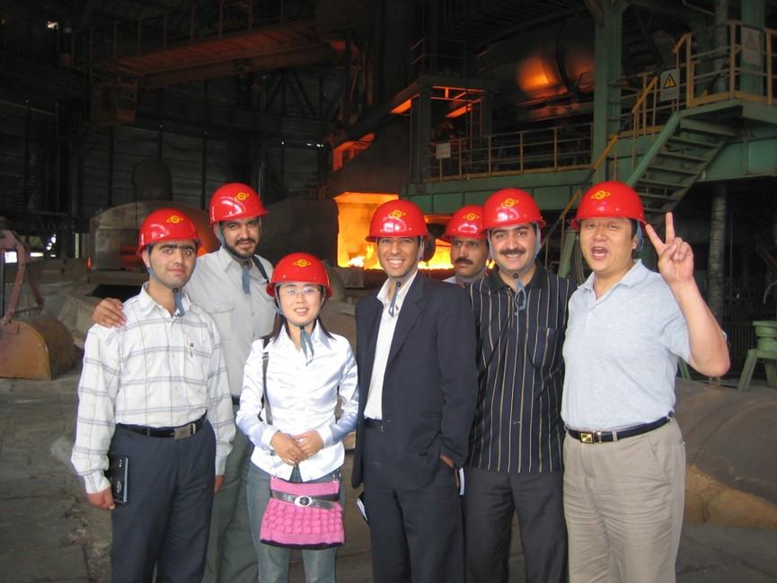 伊朗伊斯法罕鋼鐵公司到首鋼廠區、河北曹妃甸京唐公司、遷鋼等地參觀學習