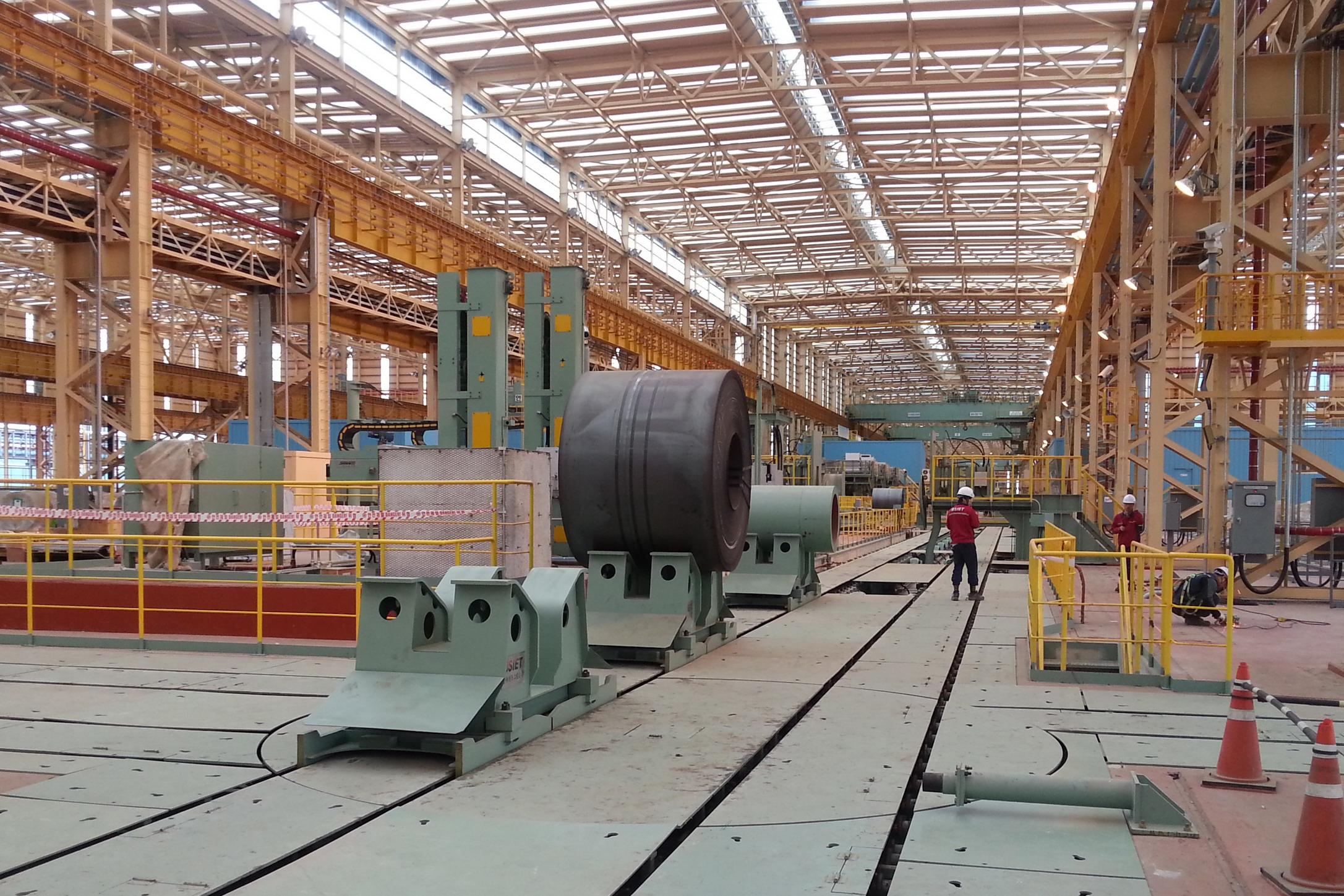 韓國浦項鋼卷托盤運輸裝備