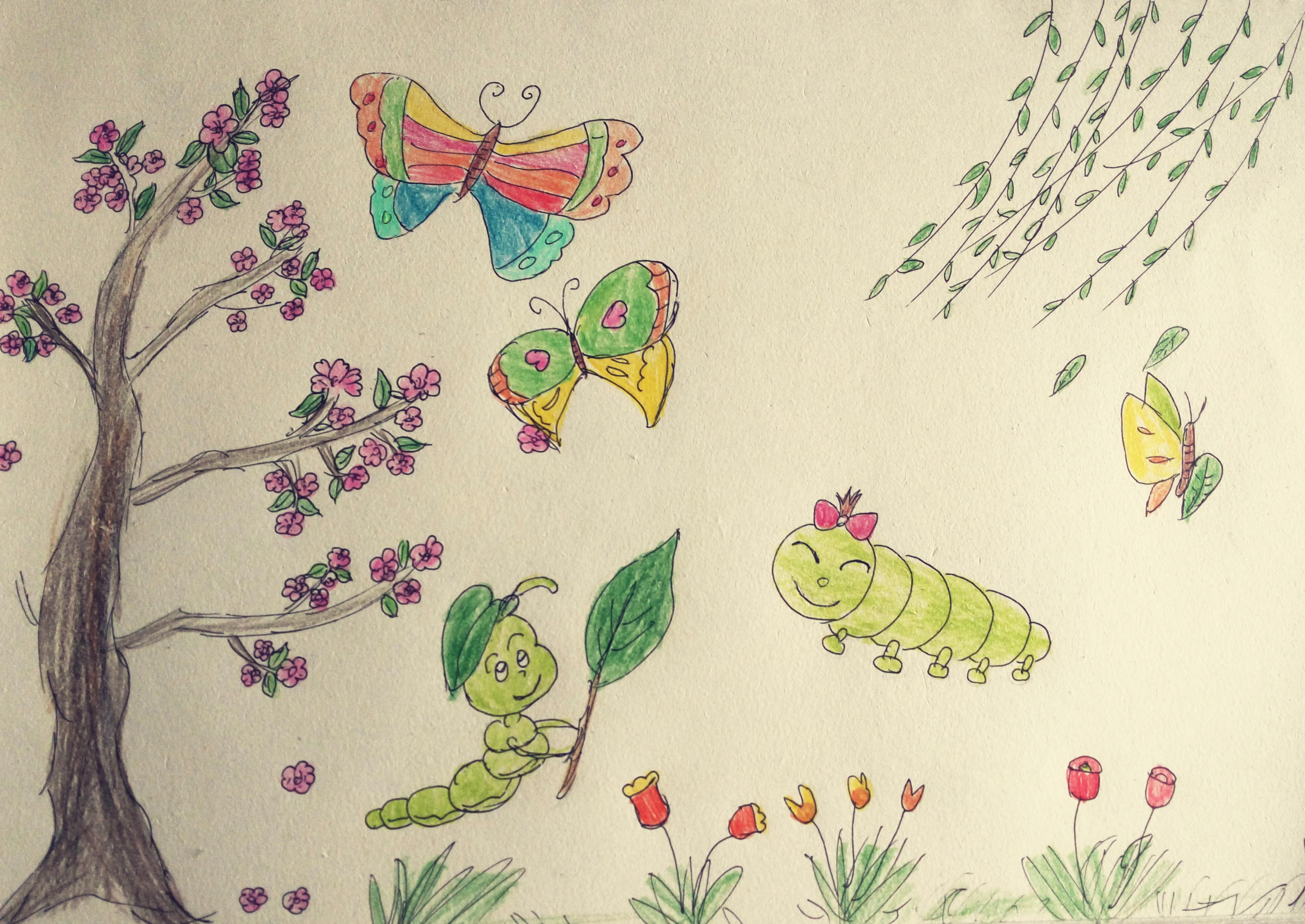 严晓云:儿童简笔画-春天来了-2